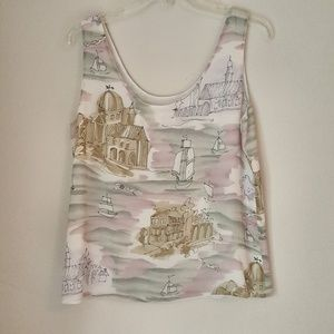 Women silk top, size 12, S102